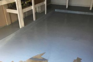 garage floor upgrade with paint