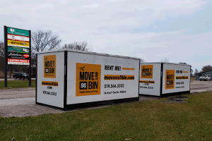 store your mobile container or schedule a pickup