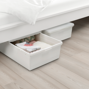 bedroom storage solutions with under the bed storage bin totes