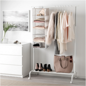 closet storage solutions include creating shelves with rod compartment organizer