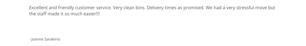 Move Out Bin Review